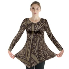 Abstract Pattern Graphics Long Sleeve Tunic