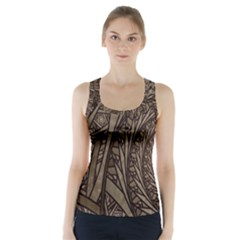 Abstract Pattern Graphics Racer Back Sports Top