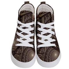 Abstract Pattern Graphics Kid s Hi Top Skate Sneakers