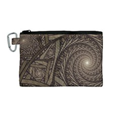 Abstract Pattern Graphics Canvas Cosmetic Bag (medium)