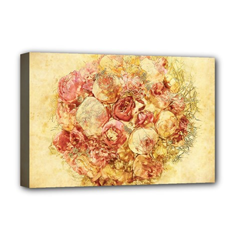 Vintage Digital Graphics Flower Deluxe Canvas 18  X 12