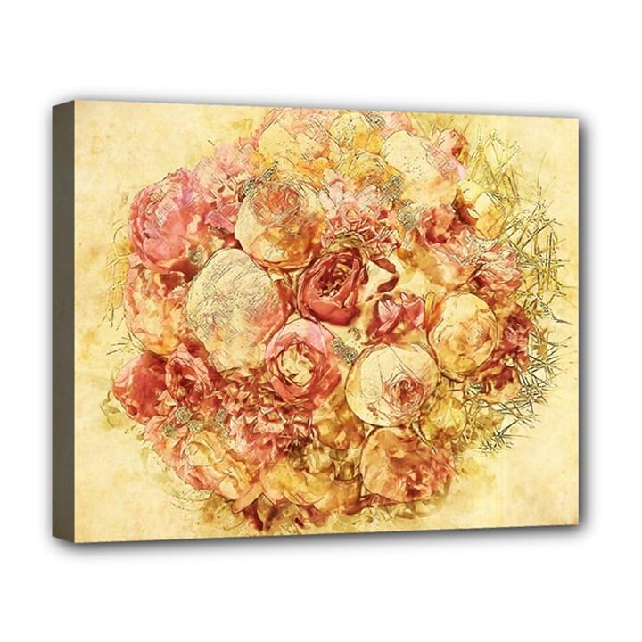 Vintage Digital Graphics Flower Deluxe Canvas 20  x 16