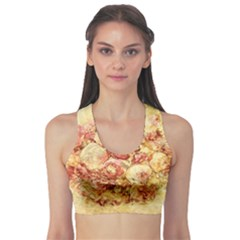 Vintage Digital Graphics Flower Sports Bra