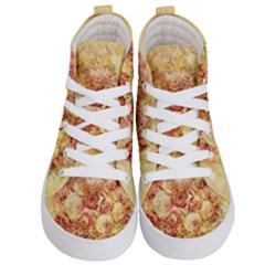 Vintage Digital Graphics Flower Kid s Hi Top Skate Sneakers