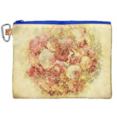Vintage Digital Graphics Flower Canvas Cosmetic Bag (xxl)