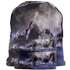 Mountains Moon Earth Space Giant Full Print Backpack