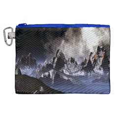 Mountains Moon Earth Space Canvas Cosmetic Bag (xl)