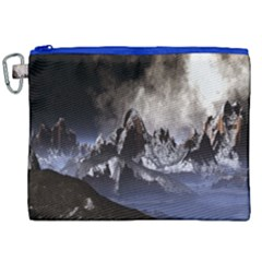Mountains Moon Earth Space Canvas Cosmetic Bag (xxl)