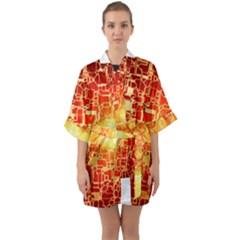 Board Conductors Circuits Quarter Sleeve Kimono Robe