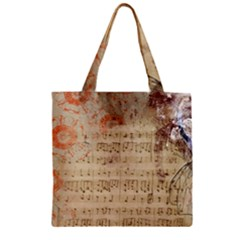 Art Collage Design Colorful Color Zipper Grocery Tote Bag