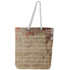 Art Collage Design Colorful Color Full Print Rope Handle Tote (large)