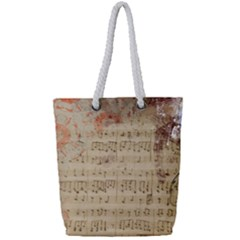 Art Collage Design Colorful Color Full Print Rope Handle Tote (small)