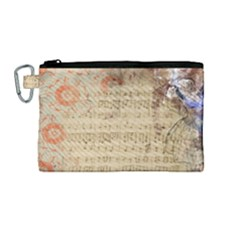 Art Collage Design Colorful Color Canvas Cosmetic Bag (medium)