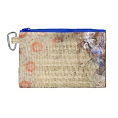Art Collage Design Colorful Color Canvas Cosmetic Bag (large)