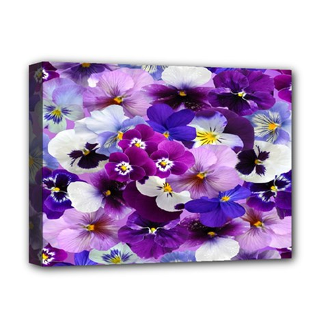 Graphic Background Pansy Easter Deluxe Canvas 16  X 12