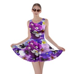 Graphic Background Pansy Easter Skater Dress