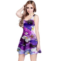 Graphic Background Pansy Easter Reversible Sleeveless Dress