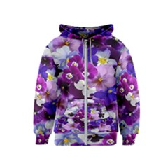 Graphic Background Pansy Easter Kids  Zipper Hoodie