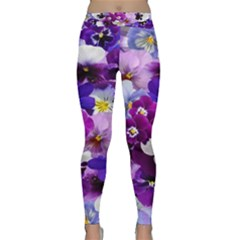 Graphic Background Pansy Easter Classic Yoga Leggings