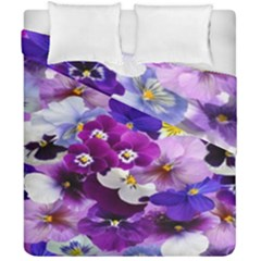 Graphic Background Pansy Easter Duvet Cover Double Side (california King Size)