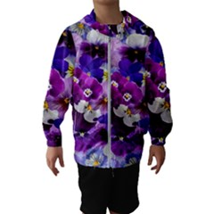 Graphic Background Pansy Easter Hooded Wind Breaker (kids)