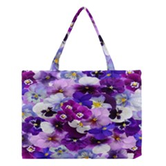 Graphic Background Pansy Easter Medium Tote Bag
