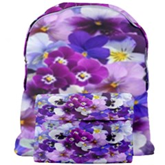 Graphic Background Pansy Easter Giant Full Print Backpack