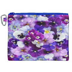 Graphic Background Pansy Easter Canvas Cosmetic Bag (xxl)