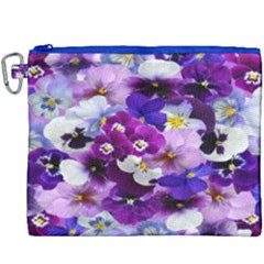 Graphic Background Pansy Easter Canvas Cosmetic Bag (xxxl)
