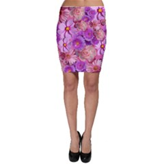Flowers Blossom Bloom Nature Color Bodycon Skirt