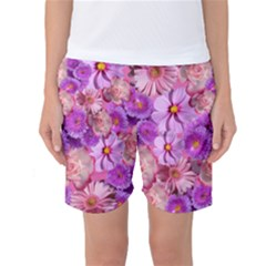 Flowers Blossom Bloom Nature Color Women s Basketball Shorts