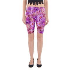Flowers Blossom Bloom Nature Color Yoga Cropped Leggings