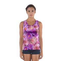 Flowers Blossom Bloom Nature Color Sport Tank Top