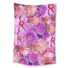 Flowers Blossom Bloom Nature Color Large Tapestry