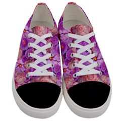 Flowers Blossom Bloom Nature Color Women s Low Top Canvas Sneakers
