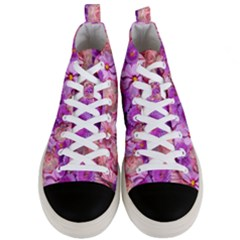 Flowers Blossom Bloom Nature Color Men s Mid Top Canvas Sneakers