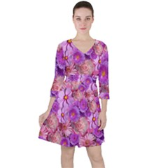 Flowers Blossom Bloom Nature Color Ruffle Dress