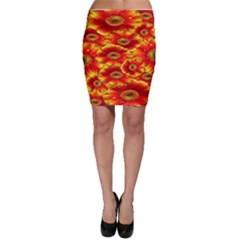 Gerbera Flowers Nature Plant Bodycon Skirt