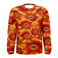 Gerbera Flowers Nature Plant Men s Long Sleeve Tee