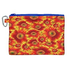 Gerbera Flowers Nature Plant Canvas Cosmetic Bag (xl)