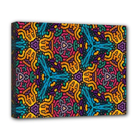 Grubby Colors Kaleidoscope Pattern Deluxe Canvas 20  X 16