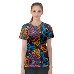Grubby Colors Kaleidoscope Pattern Women s Sport Mesh Tee