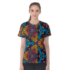 Grubby Colors Kaleidoscope Pattern Women s Cotton Tee