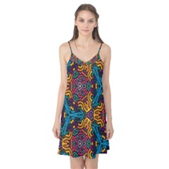 Grubby Colors Kaleidoscope Pattern Camis Nightgown