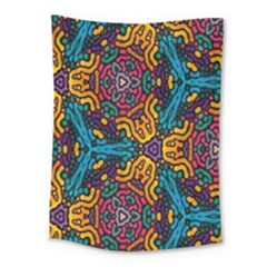Grubby Colors Kaleidoscope Pattern Medium Tapestry