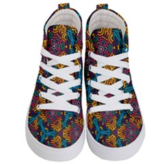 Grubby Colors Kaleidoscope Pattern Kid s Hi Top Skate Sneakers