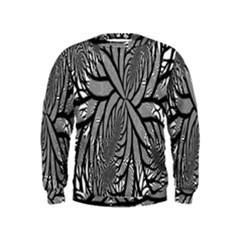Fractal Symmetry Pattern Network Kids  Sweatshirt