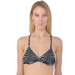 Fractal Symmetry Pattern Network Reversible Tri Bikini Top