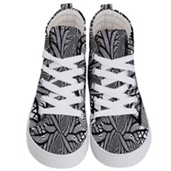 Fractal Symmetry Pattern Network Kid s Hi Top Skate Sneakers
