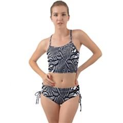 Fractal Symmetry Pattern Network Mini Tank Bikini Set